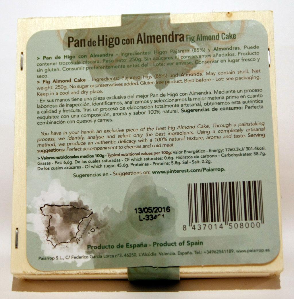 Pan de higo con almendras - Turrones Espí Alicante