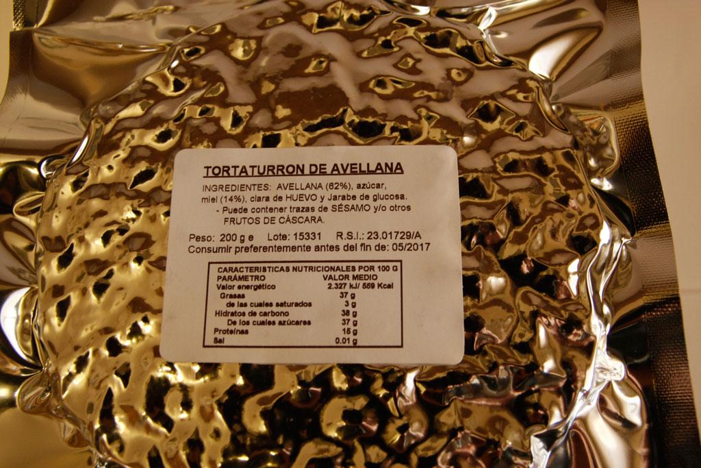 Torta de turrón duro avellana - Turrones Espí Alicante